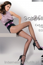 Rajstopy damskie - Gabriella Exclusive T-band 10 den